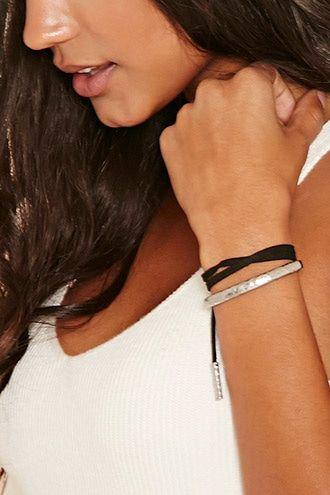 Hammered Bar Bracelet Set