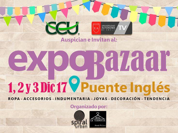 ✅ @autonomatv  y ✅ @ccu_chile  #Auspician e #Invitan al #ExpoBazaar en Puente Inglés 👩❤️🎀👸   #Indumentaria 👖👗👚🎽👕👔 #Complementos 🌂👝💅 # Accesorios 👓👛👝👘💼👠👡 # Moda 💇👰🙅💁👫👪💏💑🏃💃 # Decoración 💛💙💚❤️ #Regalos 🎉💝 # Tendencia.   ¡¡ENTRADA LIBERADA!! 1, 2 y 3 de Diciembre 2017 en Av. Pablo Neruda 02491, LC 01, #PuenteInglés Temuco  Confirmadas tiendas exclusivas del sur de Chile y de Santiago 😍😍😍😍😍😍😍   Organizado por: @latiendita_nyc y @spiralurban