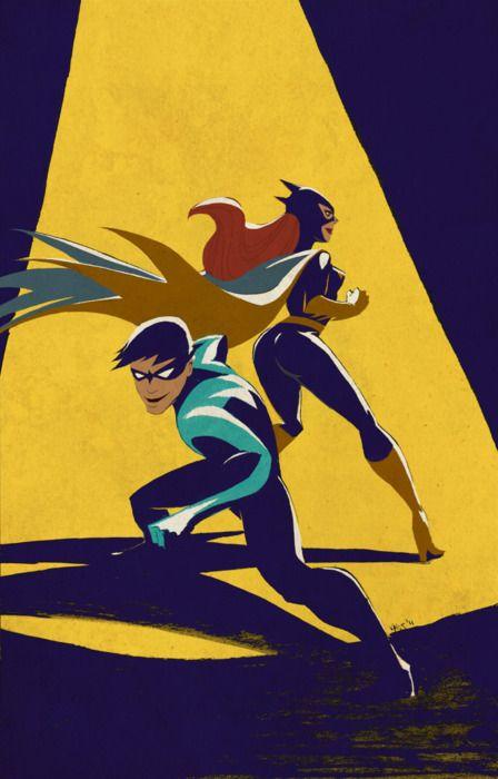 Dick and Babs.: Bat Family, Dc Comics, Superheroes Dc, Dccomics Dickgrayson, Batfamily, Comicbook, Super Heroes, Nightwing Batgirl, Superheroes Villains