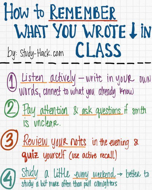 How to Remember What you Wrote Down in Lecture | Study-Hack