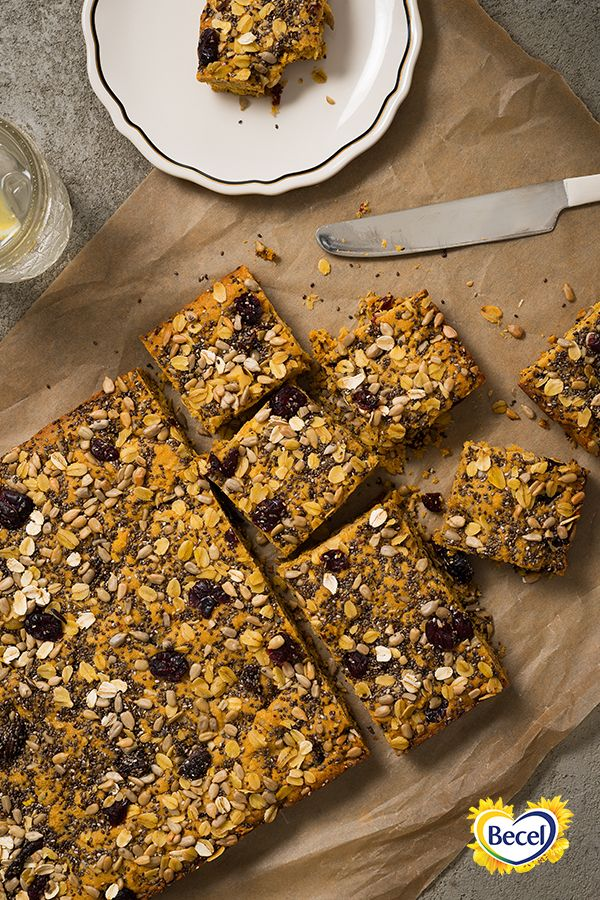 Our Anything Goes Cookie Dough Vegan Energy Bars recipe make for a great grab-and-go snack or dessert. #bakewithheart