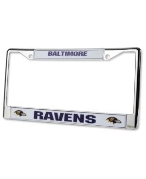 Rico Industries Baltimore Ravens License Plate Frame - Silver