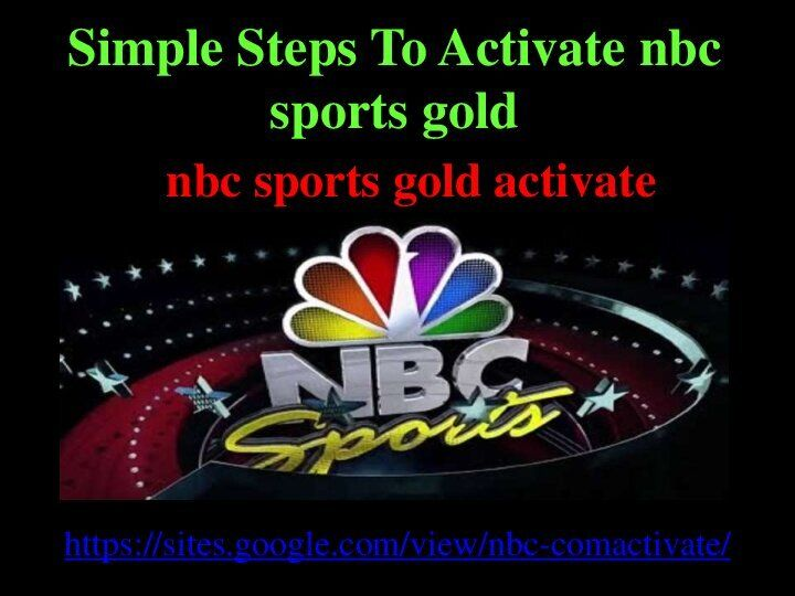 Simple Steps To Activate Nbc Sports Gold In 2021 Nbc Mystery Show Chromecast