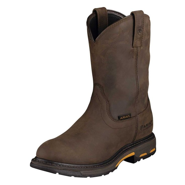 Ariat Work Boots Mens Workhog H2O Western Oily Brown 10001198