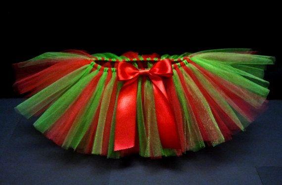Tutu bebé Tutu Navidad tutú rojo y verde con por houseoftutus