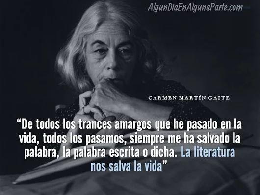 El 8 de diciembre de 1925,  #TalDíaComoHoy  nació la escritora española Carmen Martín Gaite, una de las figuras más importantes de las letras hispánicas del siglo XX.