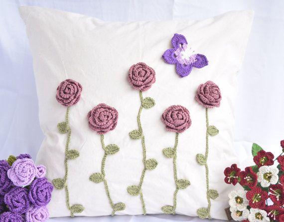 Funda de almohada fundas de almohada decorativa con flores de