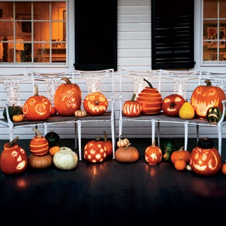 haloween pumpkin ideas...and lots of fall decor ideas on this blog!