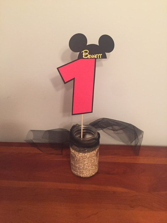 Mickey Mouse Cake topper / smash cake topper by MissPartiesGalore