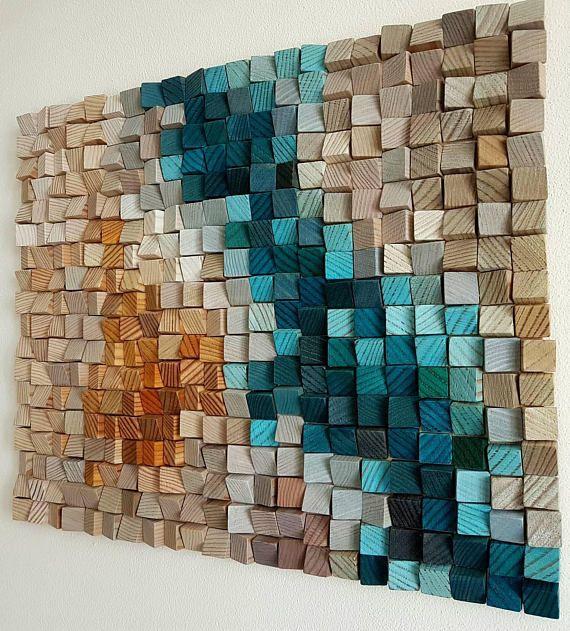 "Wood wall art ""Blue Danube"" 20″×16″"