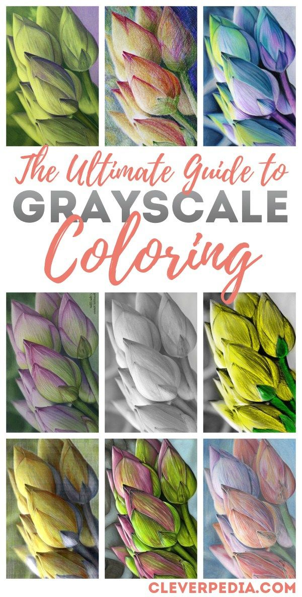 The Ultimate Grayscale Coloring Tutorial Grayscale Coloring Books Grayscale Coloring Color Pencil Art