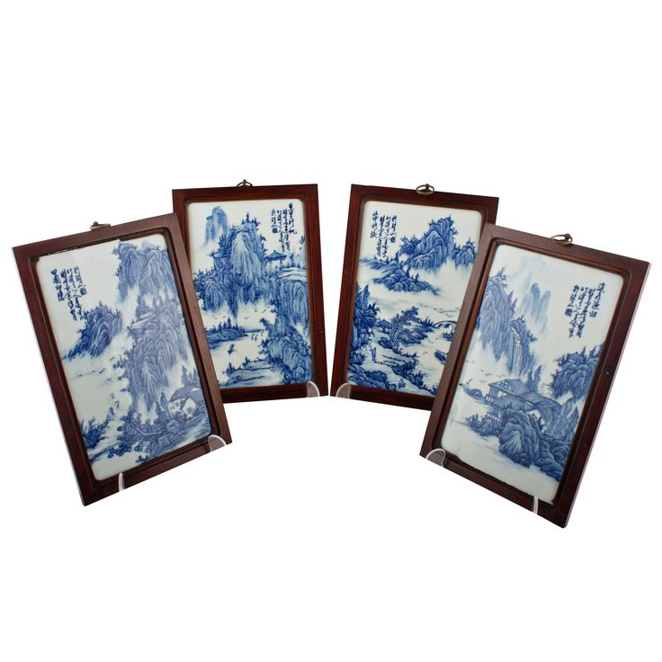 Set of Four Chinese Porcelain Panels