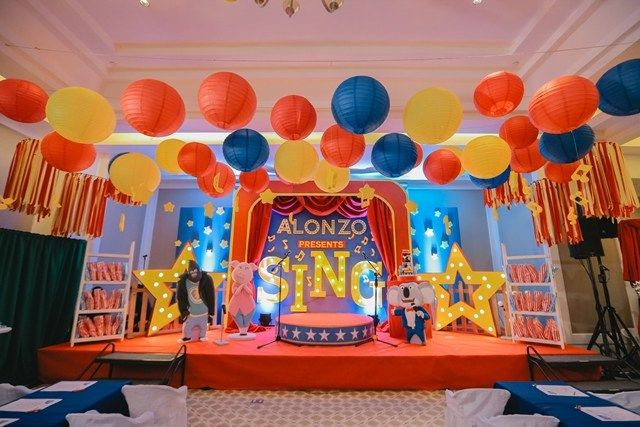 Alonzo S Sing Themed Party Stage Party Ideas In 2019