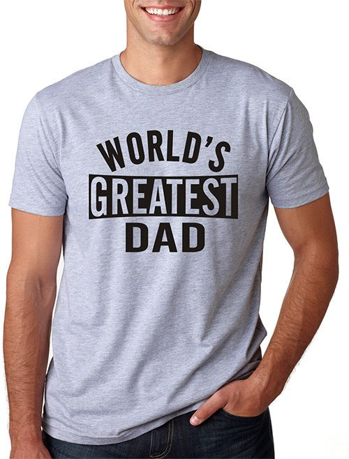 Sport Gray 'World's Greatest Dad' Tee - Men's Regular