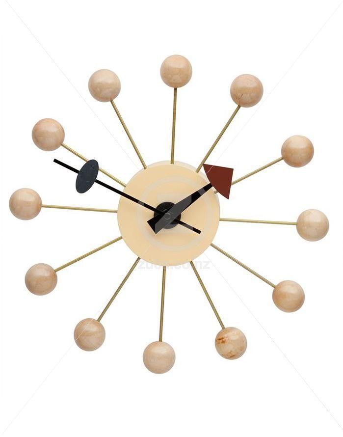 Replica George Nelson Ball Wall Clock - Natural | ZUCA | Homeware, Chairs…