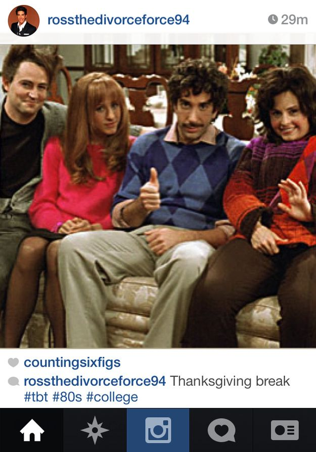 "If Ross Geller From ""Friends"" Had Instagram"