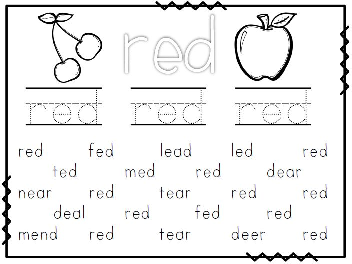 free worksheet wednesday - Free Color Word Worksheets