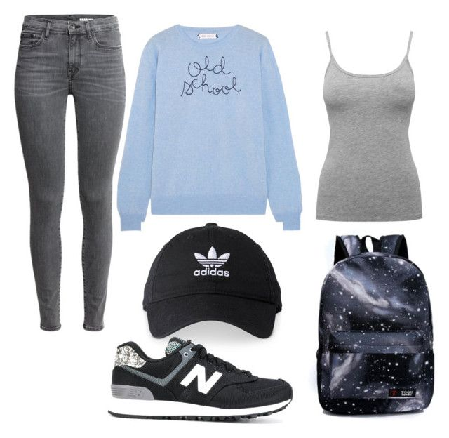 """// back to school // #6"" by bloginprogresss on Polyvore featuring Lingua Franca, M&Co, adidas and New Balance"