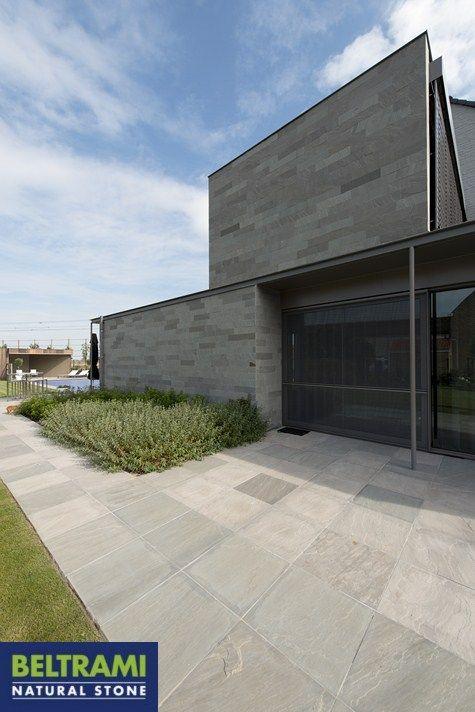 Kandla grey natural stone terrace / wall www.beltrami.be terrastegel