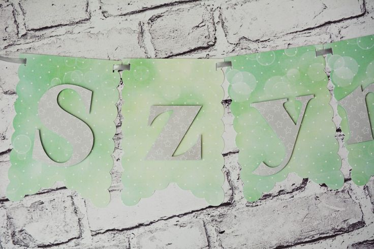 dekoracje na roczek #birthday #party #partyideas #kidsparty #banner #mint #grey #decor #handmade #craft #cricutexplore