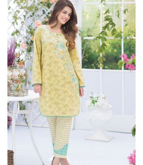 Alkaram Two Piece Embroidered Lawn Collection 2016 3B