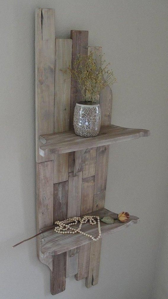 Rustic shelf that would look nice in a beachy home