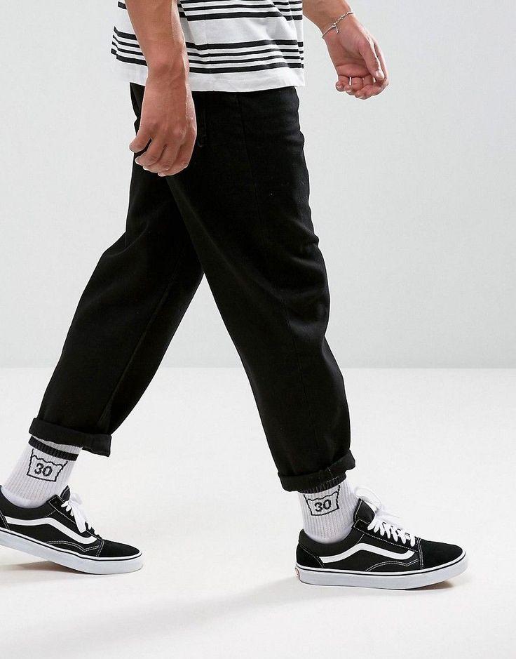 ASOS Skater Jeans In Black - Black