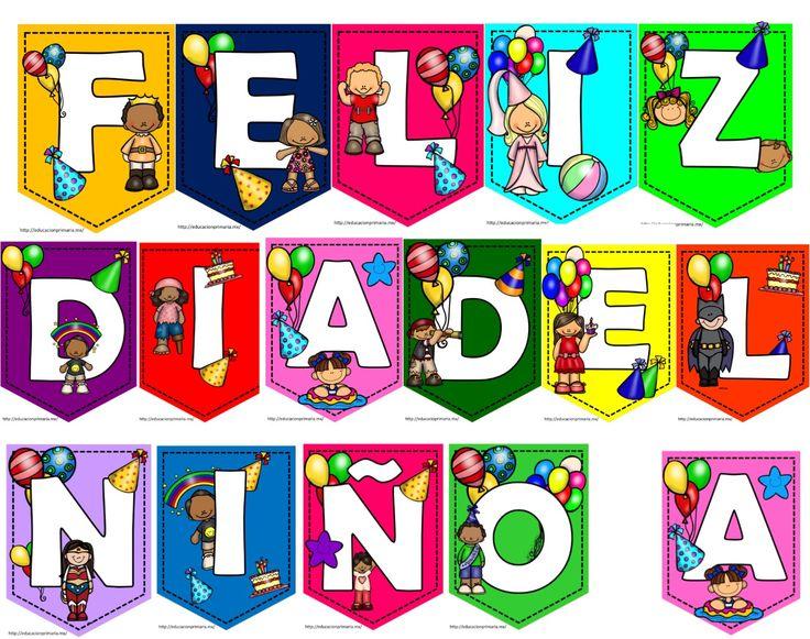 Bonitos y fabulosos banderines de FELIZ DÍA DEL NIÑO - http://materialeducativo.org/bonitos-y-fabulosos-banderines-de-feliz-dia-del-nino/