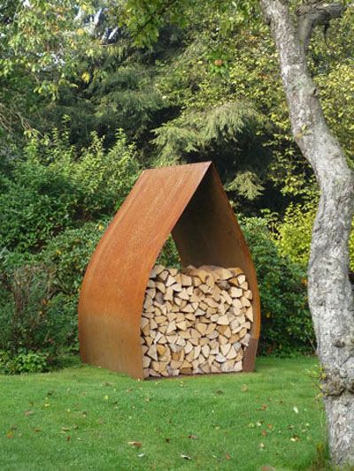 Fire wood storage: CorTen Steel