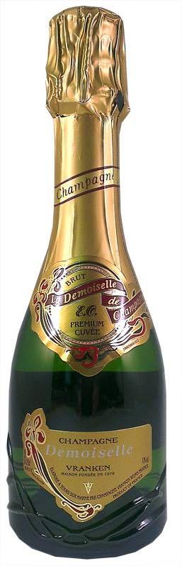 Demoiselle Vranken Demi-Bouteille (half flesje champagne), heerlijke volle champagne voor een mooie prijs bij Champagne Babes te koop.