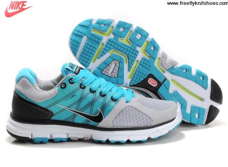 2013 Mens Nike Lunarglide 2 Wolf Grey Black Chlorine Blue Pure Platinum  Fashion Shoes Shop