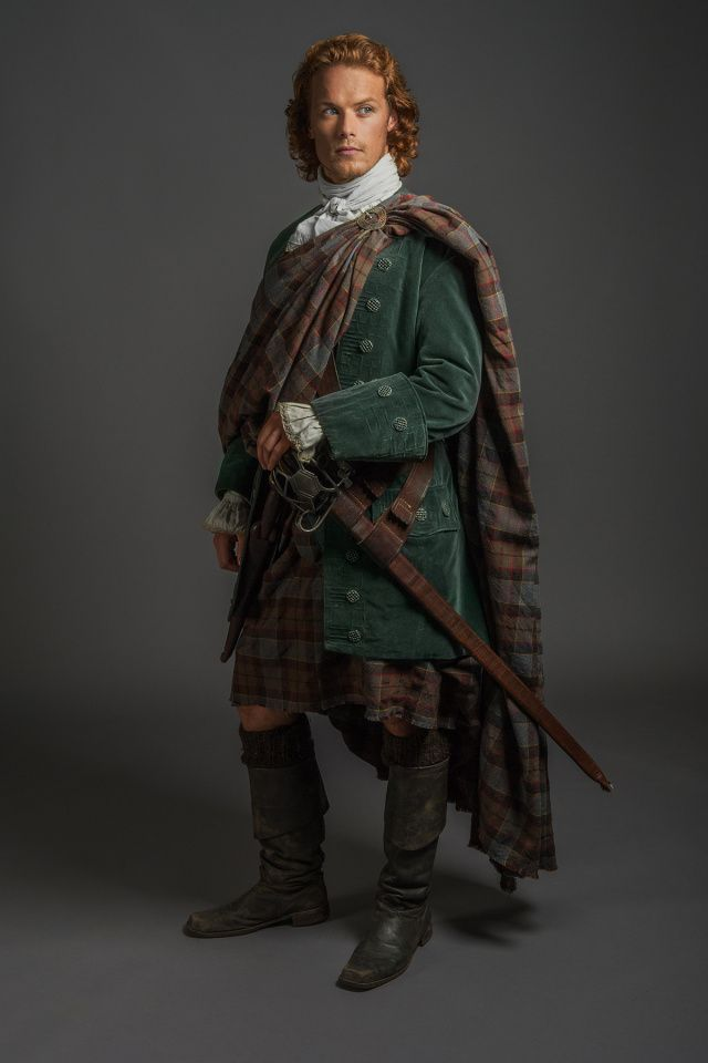 "The 'Outlander' Wedding — Official photos from Episode 107 ""The Wedding""  Sam Heughan, ""Jamie Fraser"""