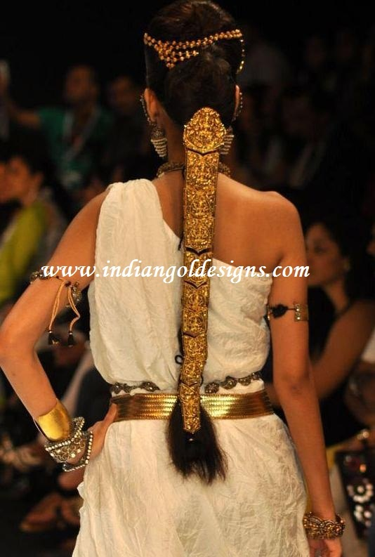 amrapali designer antique gold bridal jada