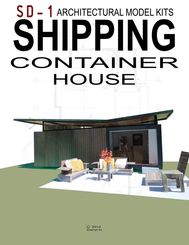 Paper Architectural Model - Shipping Container House. Architectural Model Kit. $18.50, via Etsy.