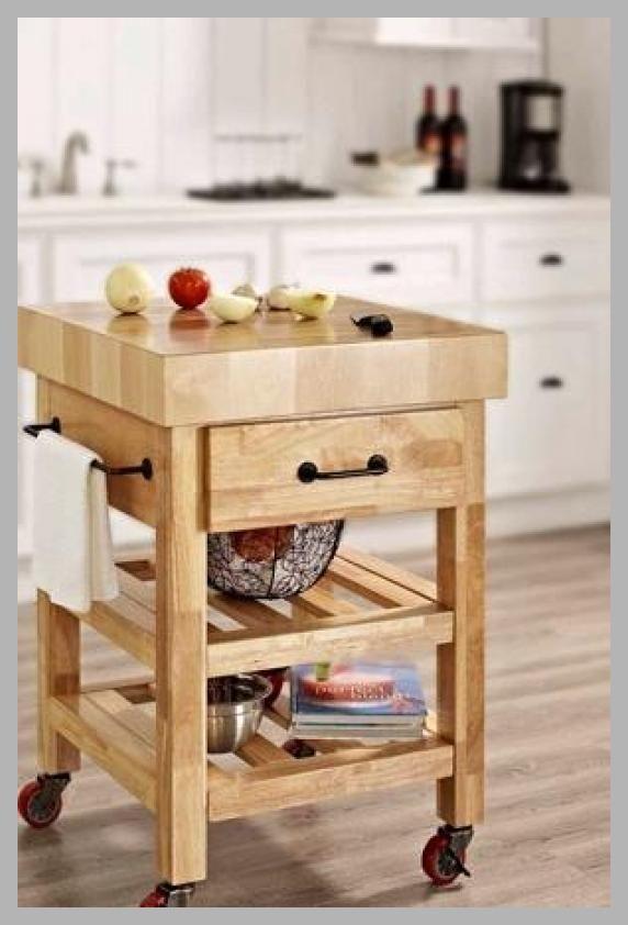 Crosley Furniture Marston Butcher Block Kitchen Cart - Price History #Kitchen  #CrosleyFurniture #ButcherBlock
