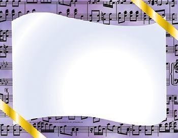 Music Certificate Border Computer Paper -- 50/$5.79 from mpmschoolsupplies.com