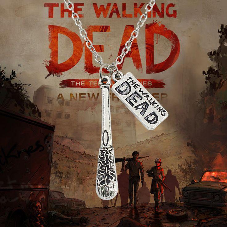 The Walking Dead Necklace Hot Movie Cudgel And Letter Logo Statement Choker Necklace Vintage Unisex Necklaces & Pendants Colar