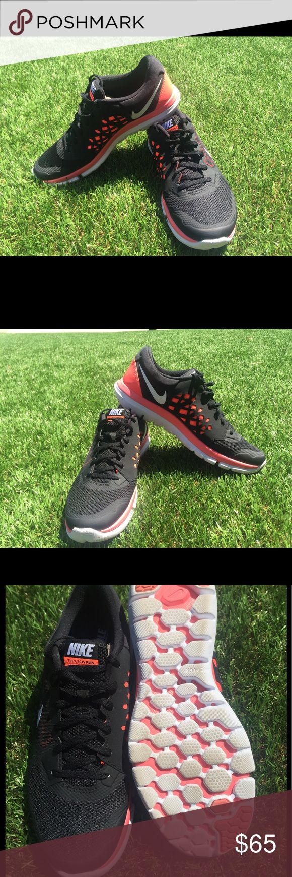 Brand New 2015 Black Nike Fitsole Running Shoes Brand New Nike Fitsole Flex Running Shoes. Great for long distance running and popular color | Size 12 Women | Black & Neon Nike Shoes Athletic Shoes