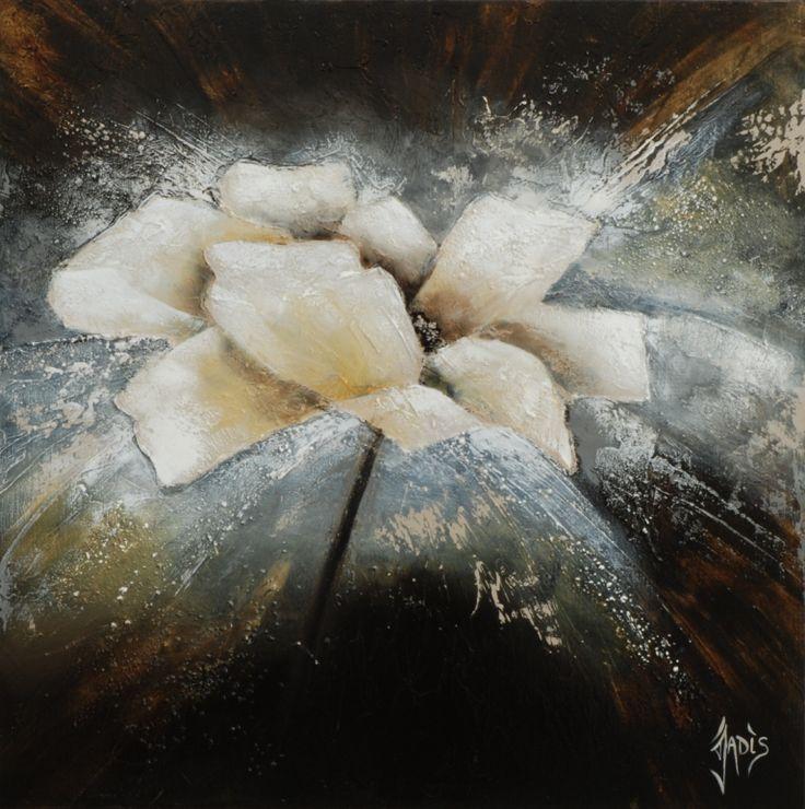 peinture abstraite ton brun