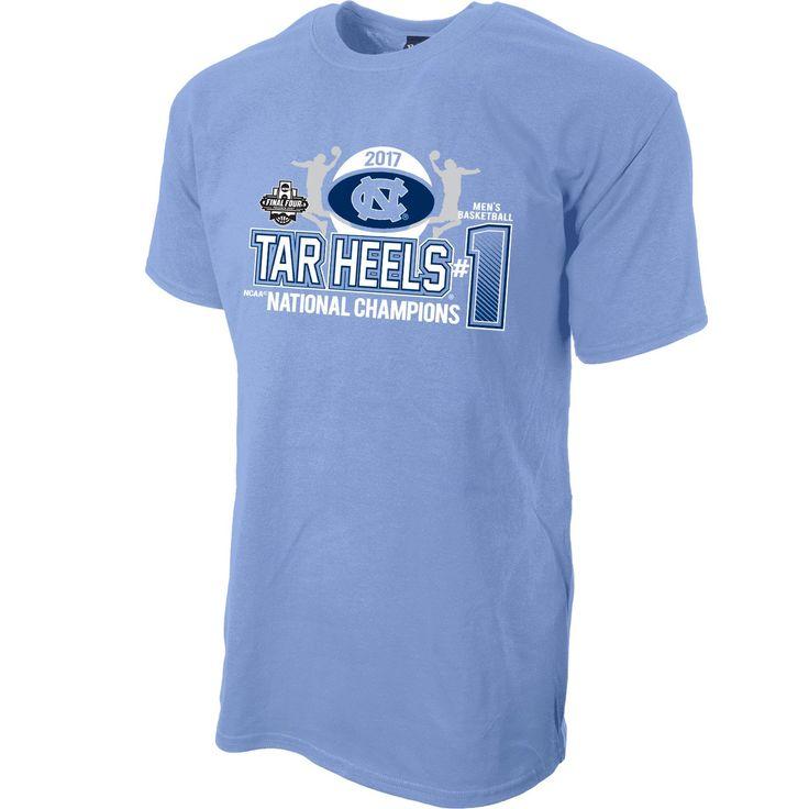 North Carolina Tar Heels 2017 National Championship Double Team T-Shirt - Carolina Blue