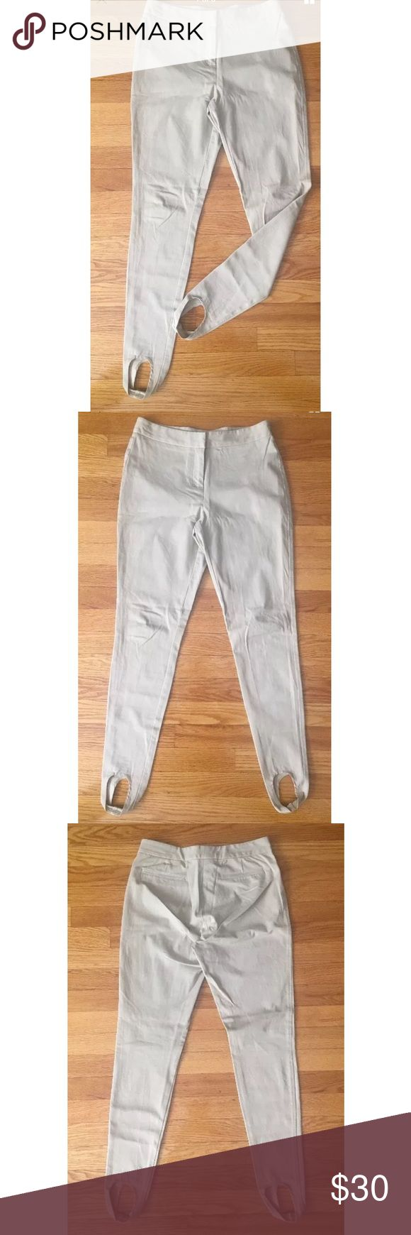 Women's Boston Proper Stirrup pants size 4 Khaki color pants. Stirrup pants. Fake back pocket. Size 4. 95% cotton and 5% spandex. Listed under Zara for exposure. Feel free to leave offers for any of my items in my closet! Zara Pants Trousers