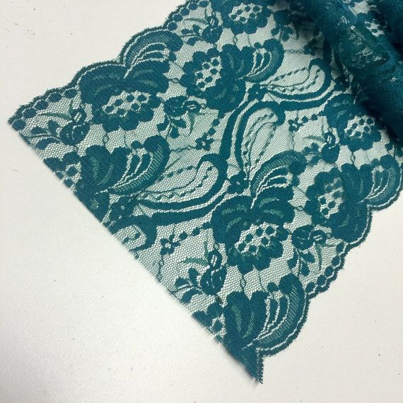 TEAL/GREEN Lace Table Runner 3ft to10ft long by LovelyLaceDesigns