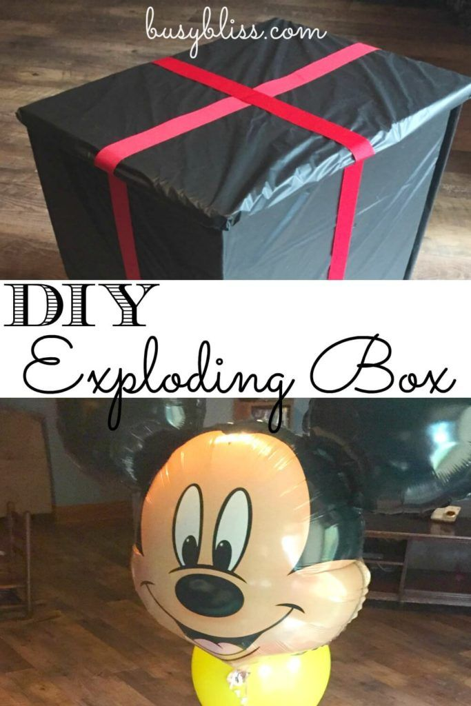 I've been looking for a way to surprise my kids with our upcoming Disney trip! This DIY Exploding Box with fall-away sides is a great idea!