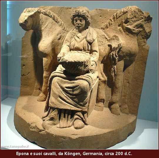 Mitologia celtica - Epona, la dea dei cavalli Epona era una divinità adorata in tutto l'insediamento celtico. La maggior parte delle rappresentazioni della dea deriva dal Galli, l'area tra la Saona e la Valle della Loira, abitato da una tribù di #cavalli #divinitàtribale #epona