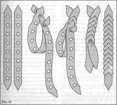 плетение из кожи картинки и схемы - Поиск в Google