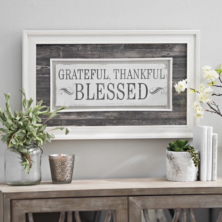 Grateful Thankful Blessed Framed Art Print Gifts Galore Pinterest Home Decor Inspiration