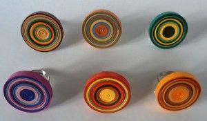 anelli filigrana di carta girandola / quilling swirl rings