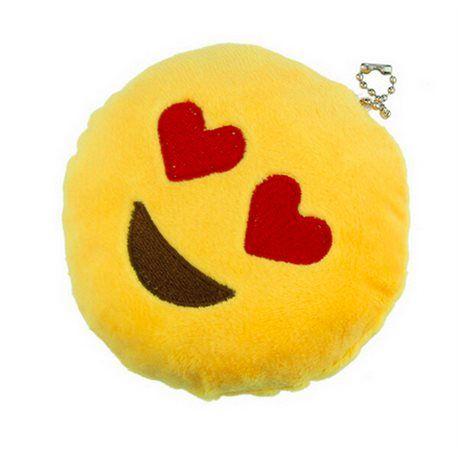 Porte clefs emoji smiley coeur 8 cm