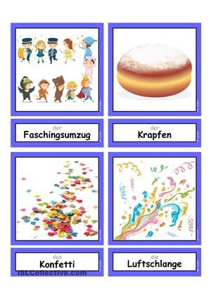 Fasching/ Karneval _ Flashcards klein