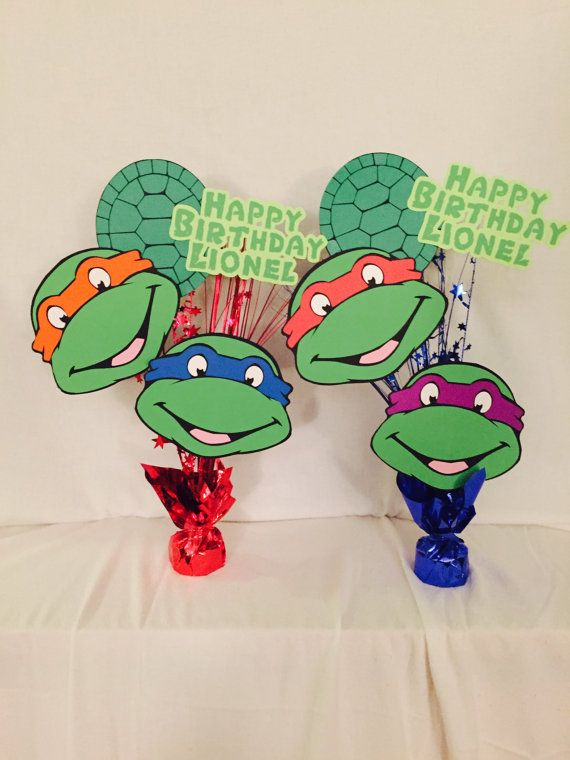 Teenage Mutant Ninja Turtles Birthday Party Table Decor Centerpiece TMNT